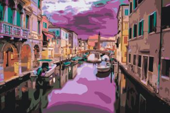 Malování podle čísel – Benátky 40x60cm