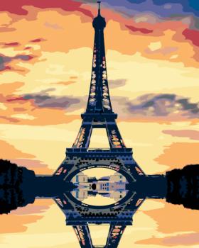 Malování podle čísel – Eiffelova věž 40x50cm