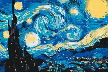 Malování podle čísel – Hvězdná noc 40x60cm