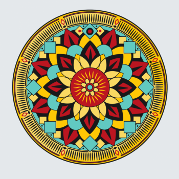 Malování podle čísel – Mandala 50x50cm
