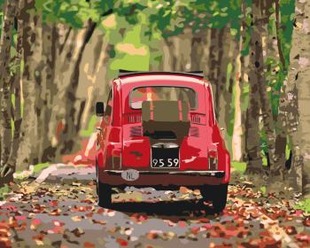 Malování podle čísel – Fiat 500 40x50cm