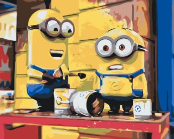 Malování podle čísel – Mimoni 40x50cm