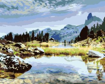 Malování podle čísel – Dolomity 40x50cm