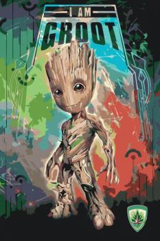 Malování podle čísel – I am Groot 40x60cm