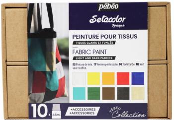 Setacolor Opaque - sada 10 barev na textil (krycí)