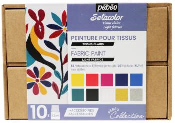 Setacolor Light fabrics - sada 10 barev na textil (průhledné)
