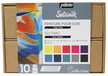 Setasilk - sada 10 barev na hedvábí