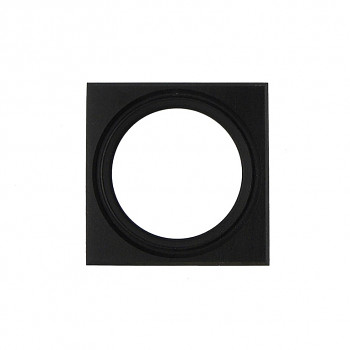 Čtvercový kulatý rám černý 7cm