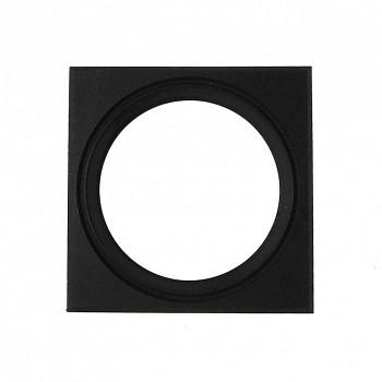 Čtvercový kulatý rám černý 9cm