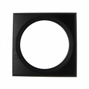 Čtvercový kulatý rám černý 11cm