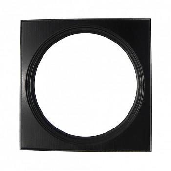 Čtvercový kulatý rám černý 13,5cm