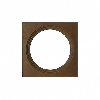 Čtvercový kulatý rám hnědý 7cm