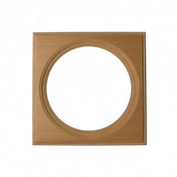 Čtvercový kulatý rám světle hnědý 9cm