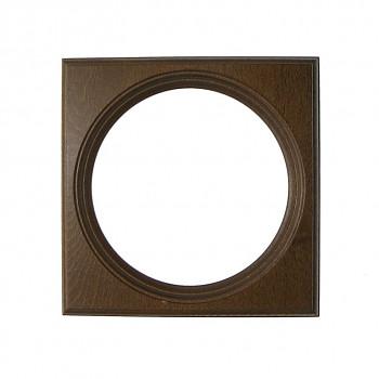 Čtvercový kulatý rám tmavě hnědý 11cm