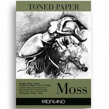 Fabriano toned paper A4 120g moss zelený skicák
