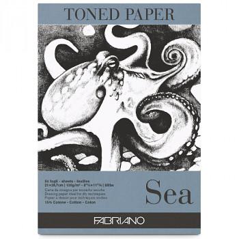 Fabriano toned paper A4 120g sea modrý skicák