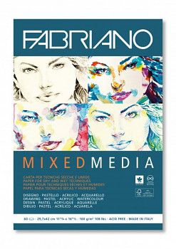Blok Fabriano mixed media A4 160g 60 listů