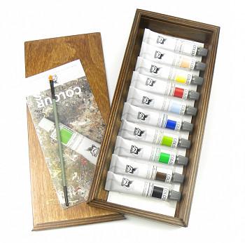 Sada akrylových barev Renesans 10x20ml v dřevěné kazetě