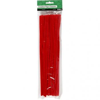 Chlupaté drátky 30cm x 6mm 50ks - červené