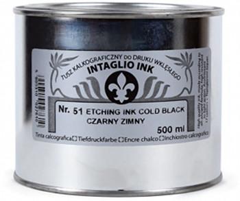 Grafická barva pro hlubotisk Renesans 500ml – černé odstíny