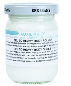 Strukturovací 3D gel lesklý – heavy body 110ml
