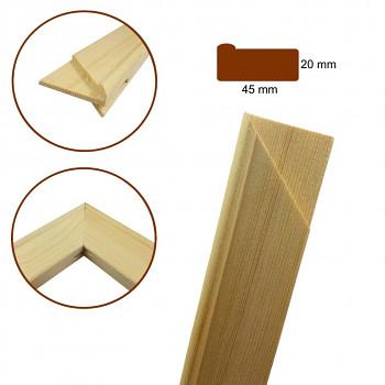 Napínací rám / blindrám, klasický profil 20x45mm