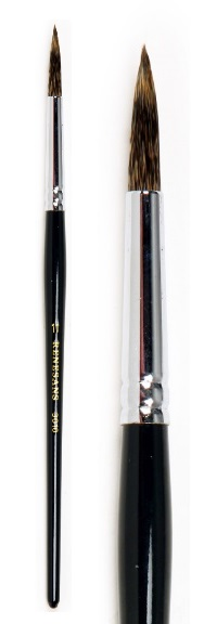 Přírodní štětec 3010R krátký veverka – velikost 4