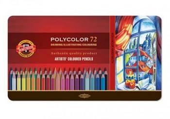 Sada pastelek Polycolor 72ks v plechovém obalu