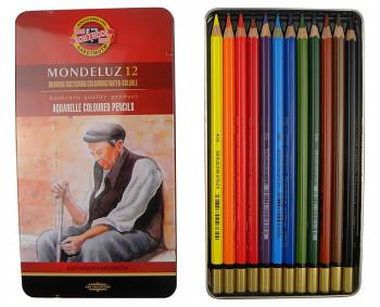 Sada akvarelových pastelek Mondeluz 12ks v plechovém obalu
