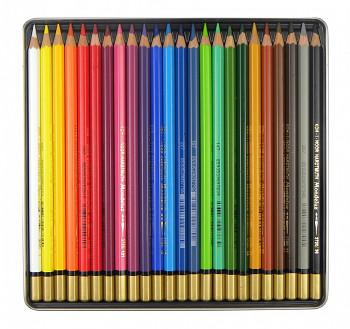 Sada akvarelových pastelek Mondeluz 24ks v plechovém obalu