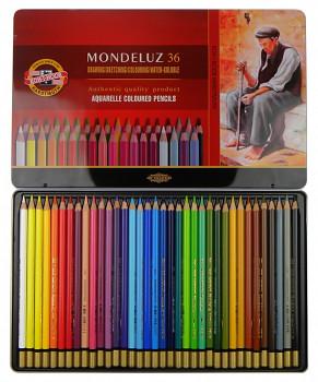 Sada akvarelových pastelek Mondeluz 36ks v plechovém obalu