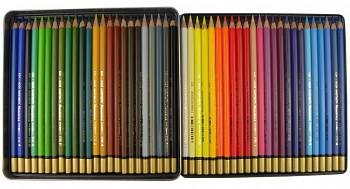 Sada akvarelových pastelek Mondeluz 48ks v plechovém obalu