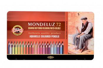 Sada akvarelových pastelek Mondeluz 72ks v plechovém obalu