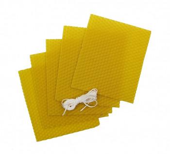 Včelí vosk 5 plátků 12x10cm