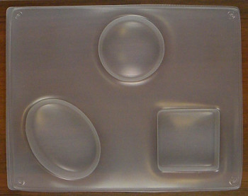 Forma  na mýdlo - ovál,kruh,čtverec