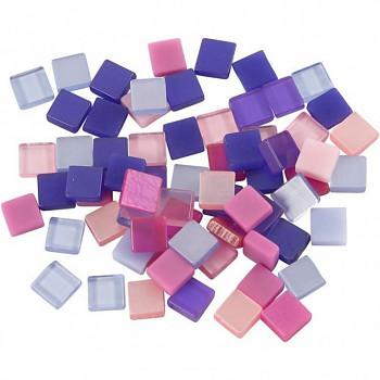 Mozaika růžovo-fialová 0,5x0,5cm 25g