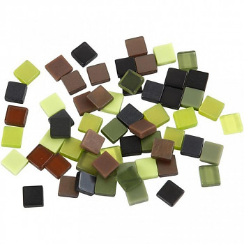 Mozaika zeleno-hnědá 0,5x0,5cm 25g