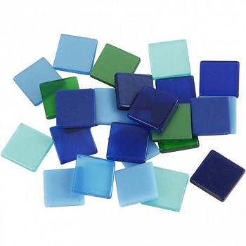 Mozaika zeleno-modrá 1x1cm 25g