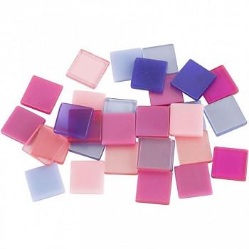 Mozaika růžovo-fialová 1x1cm 25g