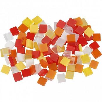 Mozaika žluto-červená 0,5x0,5cm 25g