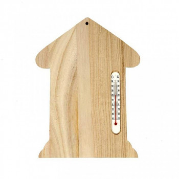 Dřevěný domeček s teploměrem