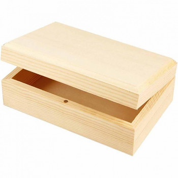 Krabička s víkem na šperky dřevěná