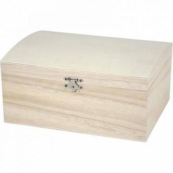Krabička s víkem velká dřevěná