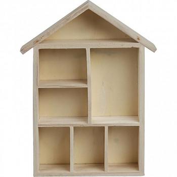 Domeček s přihrádkami dřevěný