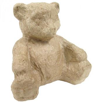 Medvídek z papírové hmoty 8cm