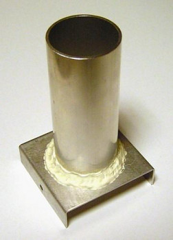 Plechová forma na odlévání svíček - válec průměr 46x120 mm
