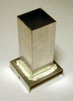 Plechová forma na odlévání svíček - kvádr 46x46x120 mm