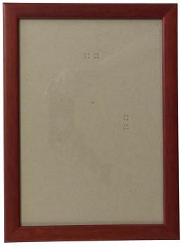 Hotový rám A4, sklo - hnědý