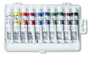 Sada temperových barev v plastu - 10x16ml