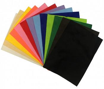Dekorační plsť barevná cca 20x30cm – 20 barev